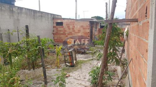 terreno de 160 m² com uma construção inacabada em unamar-cabo frio - te0183
