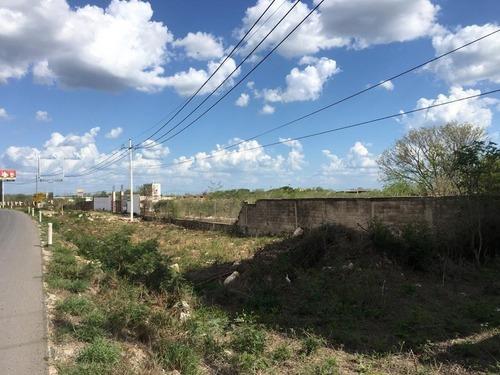 terreno de 1.66 hectáreas sobre carretera mérida-cancun 2 km antes de teya y a 3 kms cedis walmart