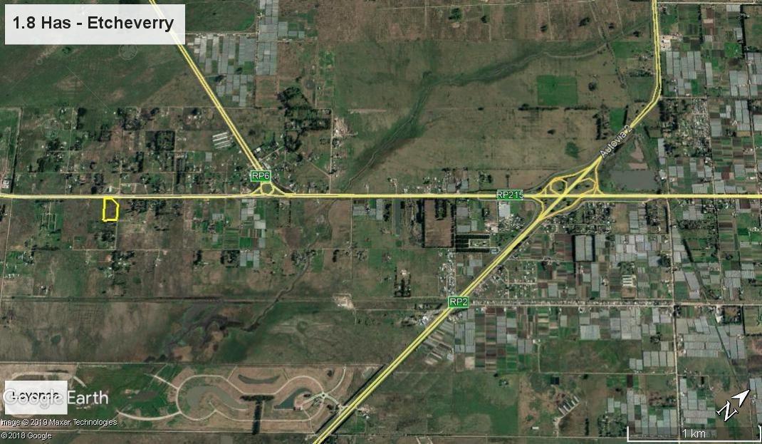 terreno de 1.8 has sobre ruta 215 - excelente ubicación