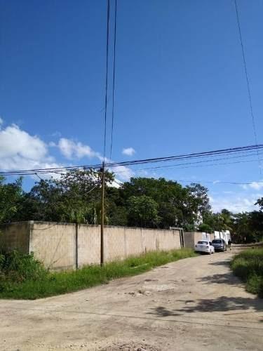 terreno de 1,984 m2 esquina, bardeado, alfredo bonfil, cancun c2655
