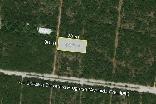 terreno de 2,100 m2 en misnebalam, mérida, yucatán