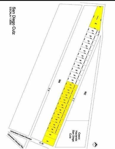 terreno de 2,100m2 en san diego cutz