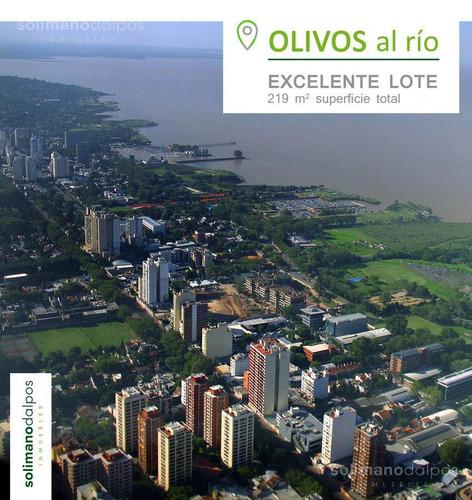 terreno de 219 m2 en olivos al rio