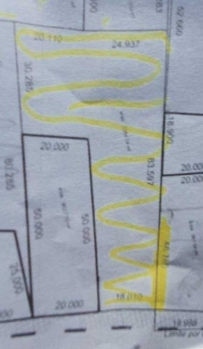 terreno de 2,354m2 aproximadamente a pie de avenida