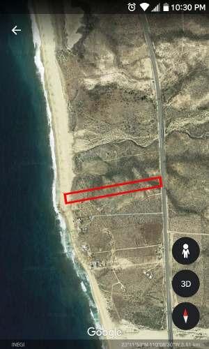 terreno de 3 hectareas 50mts frente a playa