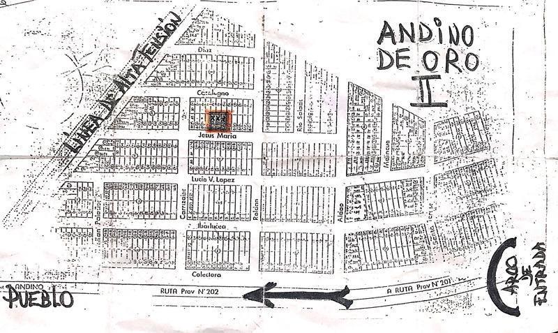 terreno de 300 m2 en andino de oro ii, andino.