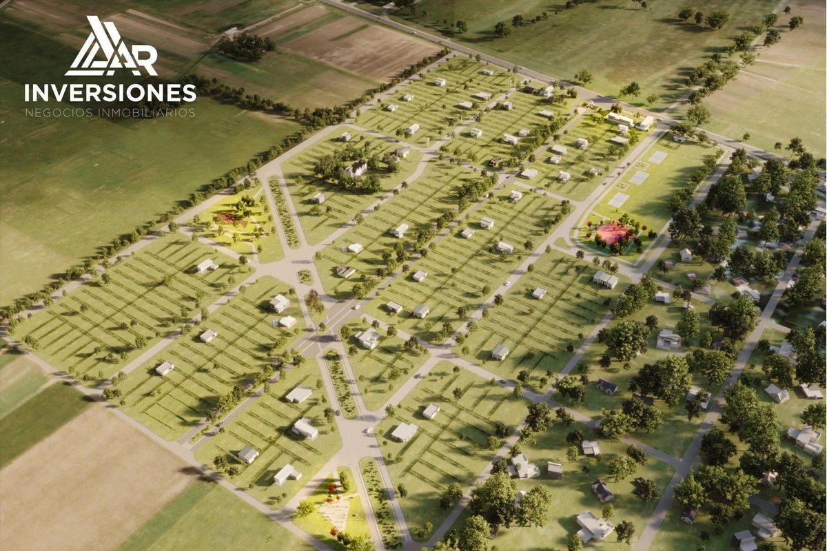 terreno de 300 m2 en pueblo esther con todos los servicios. financiados en pesos.