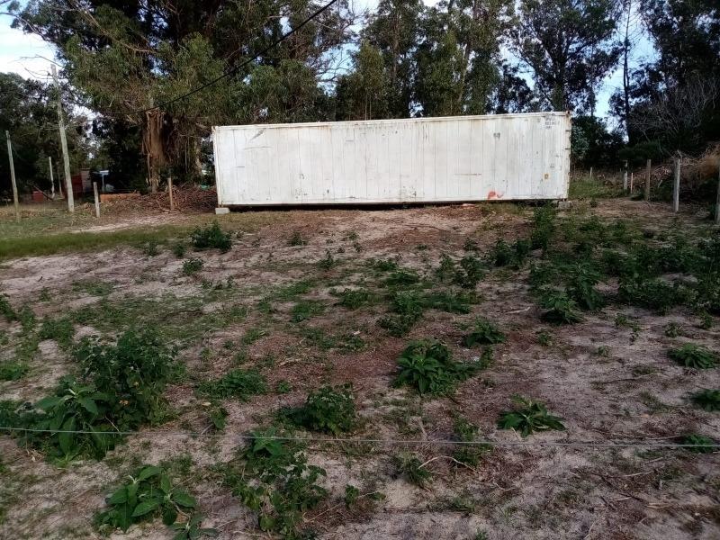 terreno de 500 mts con contenedor reefer de 40