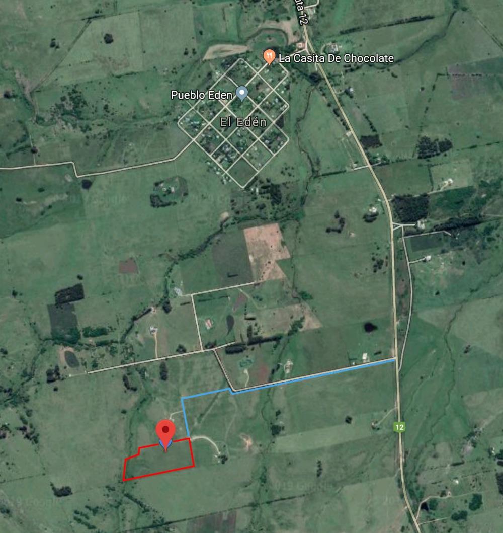terreno de 5.5has a kms de pueblo eden