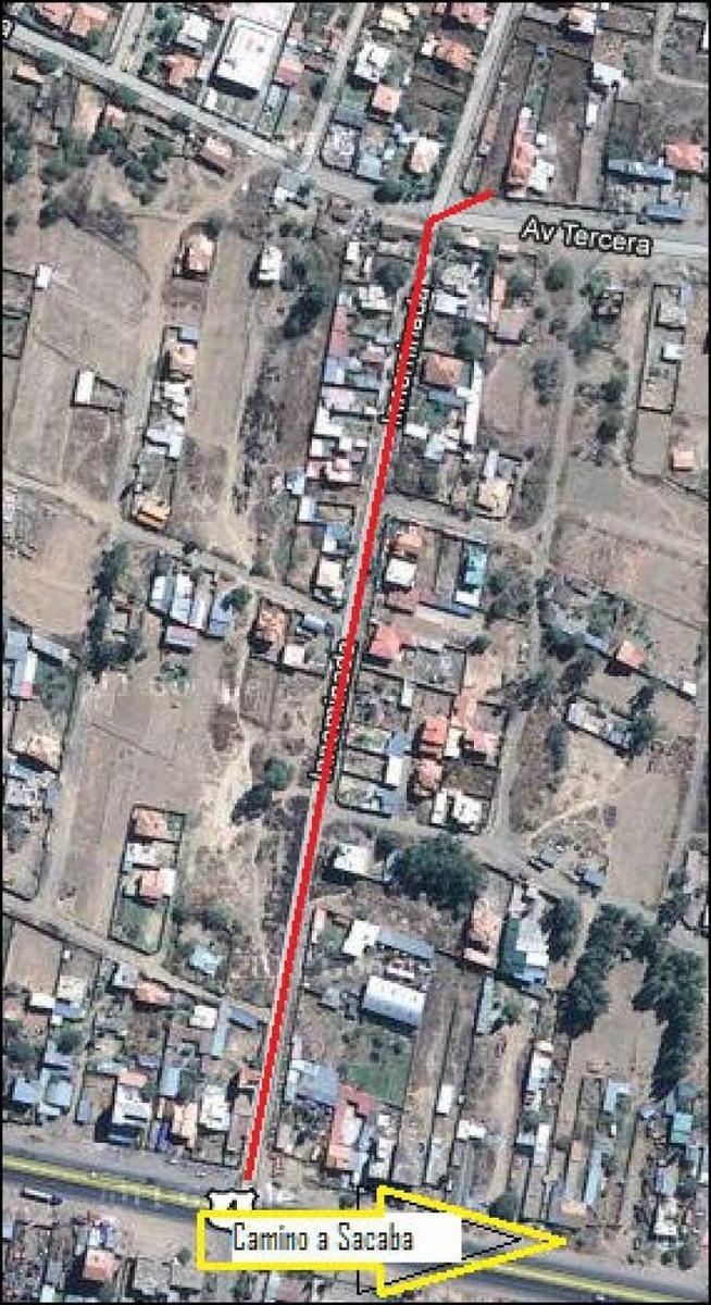 terreno de 700 m2 avenida la tercera km6 sacaba