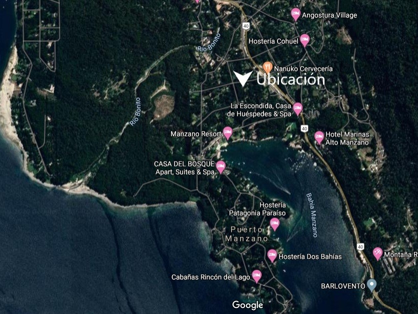 terreno de 908m2 en bahía manzano, villa la angostura