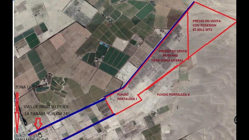 terreno de 94 hectáreas santa cruz paracas