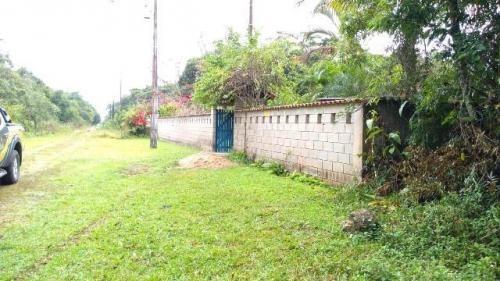 terreno de chácara escriturado em itanhaém - ref 4391-p