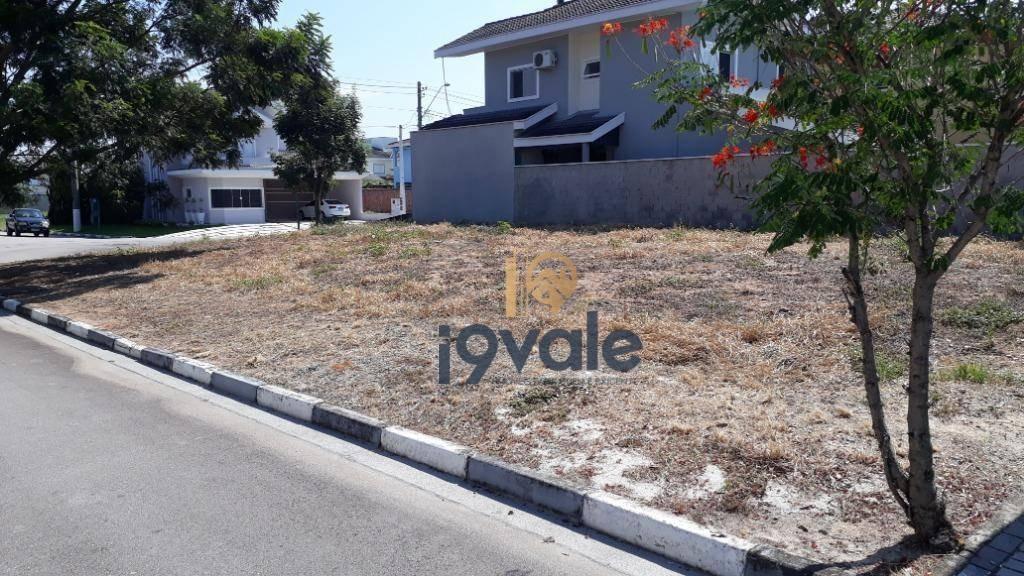 terreno de esquina a venda, 372 m² em condomínio de  jacareí/sp - te0493