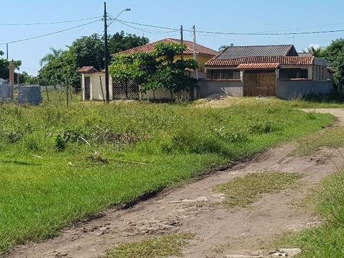 terreno de esquina no jardim marambá, em itanhaém.ref 4232