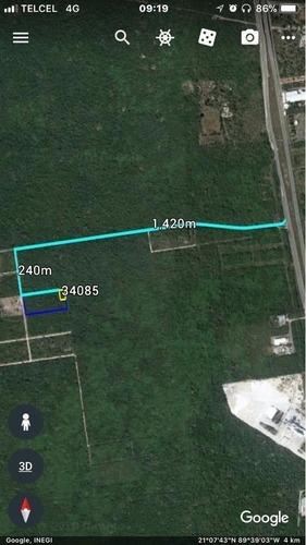 terreno de inversión en esquina komchen 1,400 m2