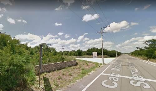 terreno de inversion en zona norte, carretera merida-progreso. zona de crecimiento.