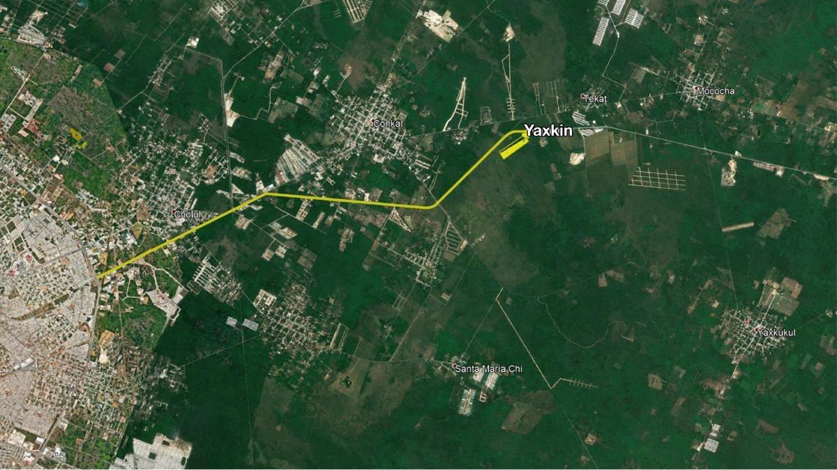 terreno de inversión, proyecto yaxkin 4 etapa, ya cuenta con calles blancas