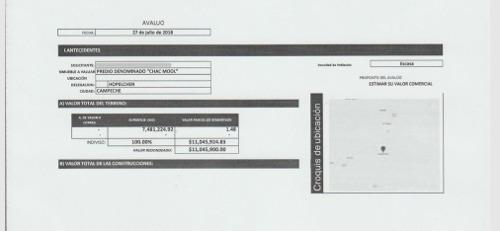 terreno de oportunidad en venta para inversionistas en campeche de 11 a 7.8 mlls