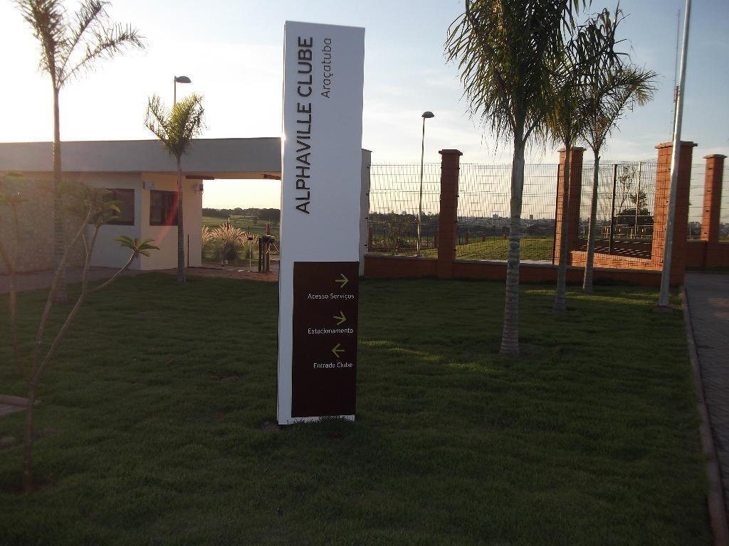 terreno em alphaville, araçatuba/sp de 0m² à venda por r$ 190.000,00 - te279051