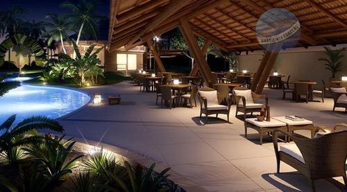 terreno em condomínio fechado de alto padrão, pronto para construir, perto das praias do litoral sul - bosque do coqueiral - te0002