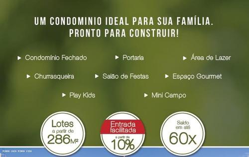 terreno em condomínio para venda em jaguariaíva, centro - passovelho01