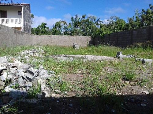 terreno em itanhaém, no gaivota, ja limpo, medindo 286m²