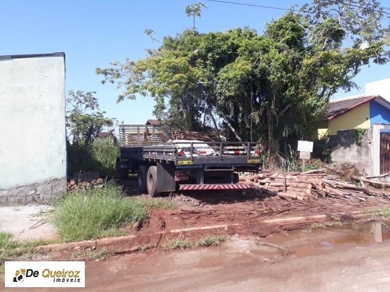 terreno em mongaguá no bairro itaguaí , com guia e sarjeta, 12x28= 336 m². - 1747 - 33557039