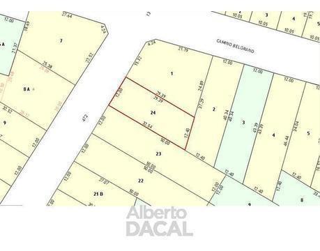 terreno en 472/ belg y 23 city bell - alberto dacal propiedades