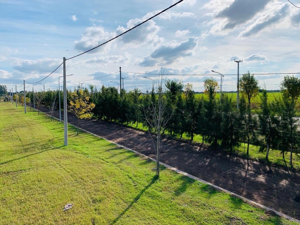 terreno en barrio abierto en alvear. ecopueblo. lote de 264 m2. excelente ubicacion. financiacion