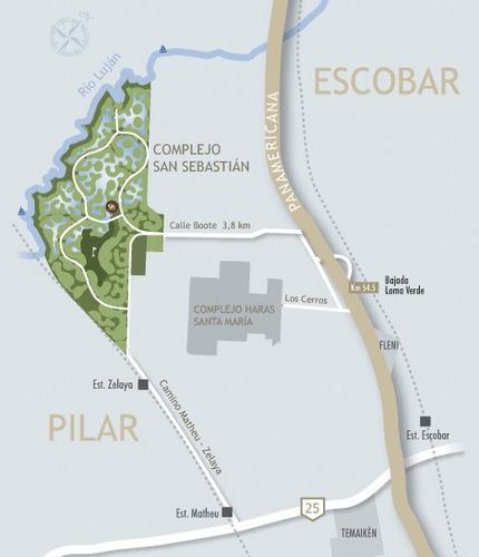 terreno en barrio cerrado san sebastian loma verde-pilar