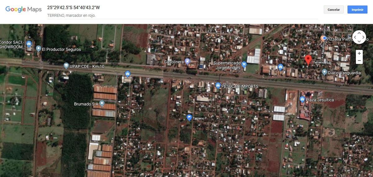 terreno en c.d.e. 360m2 a 100 mts. de la ruta 7. titulado