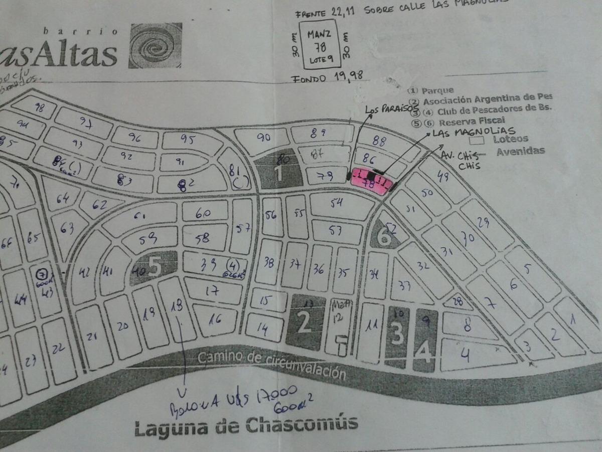 terreno en chascomus barrio lomas alta
