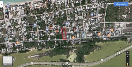 terreno en chicxulub en 3 fila de 2,315 m2 cruza de calle a calle