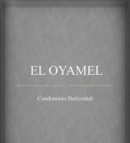 terreno en condomininio el oyamel, condominio horizontal