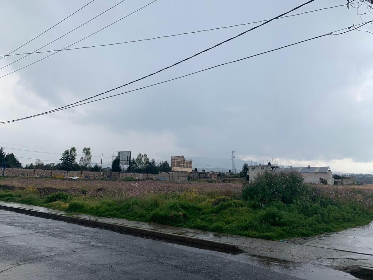 terreno en esquina  4,447 m san francisco  tlacilalcalpan