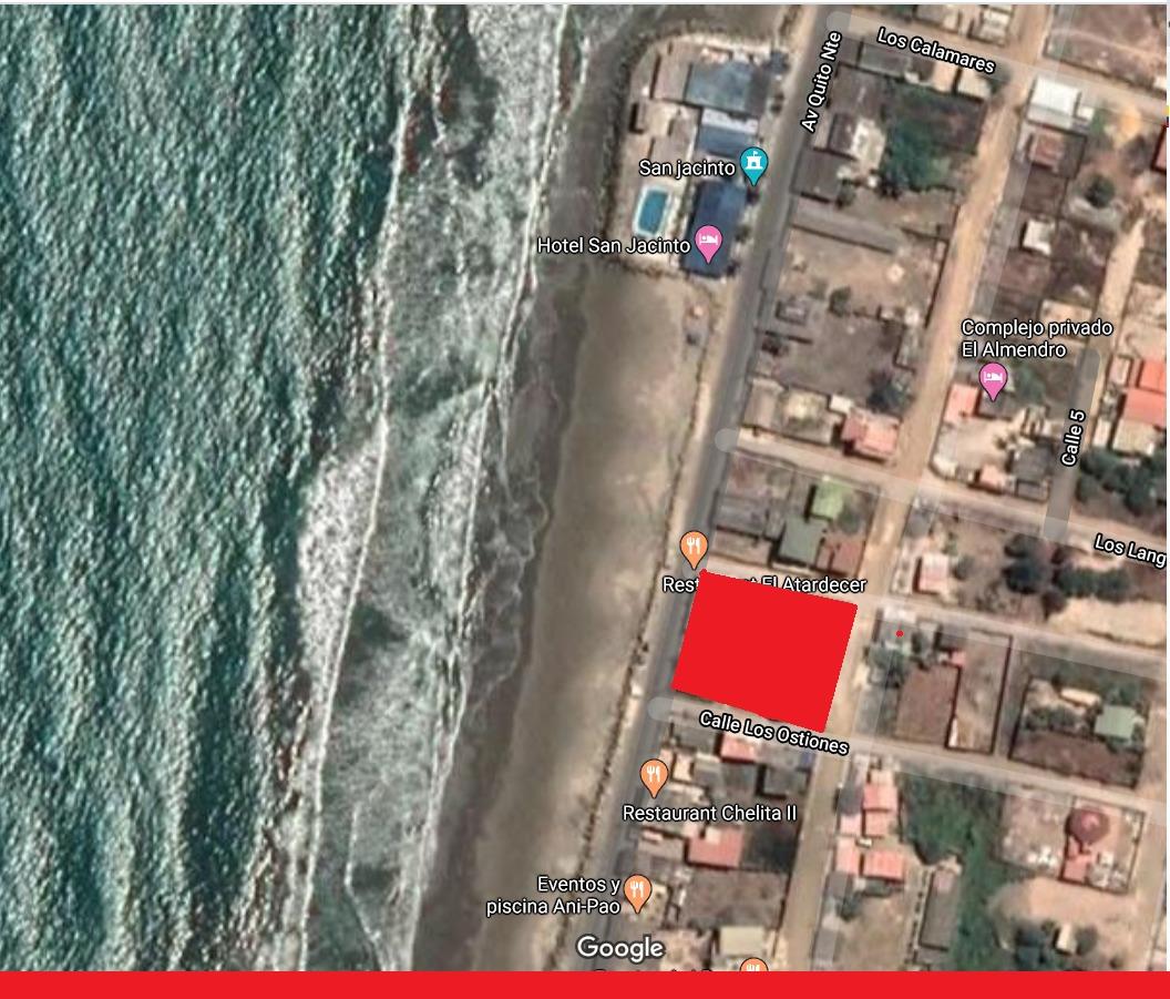 terreno en la playa de san jacinto a 20m de la playa