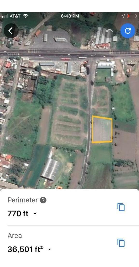 terreno en la trinidad tepango a unos metros de la carretera