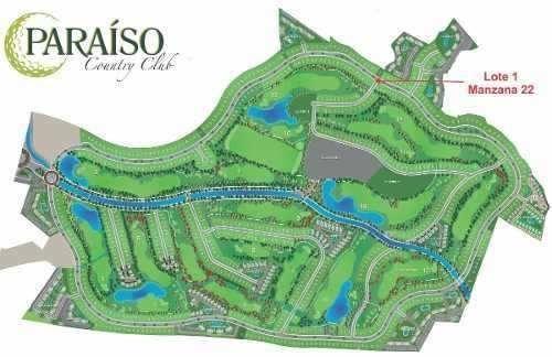 terreno en paraíso country club, mor. con vista campo golf