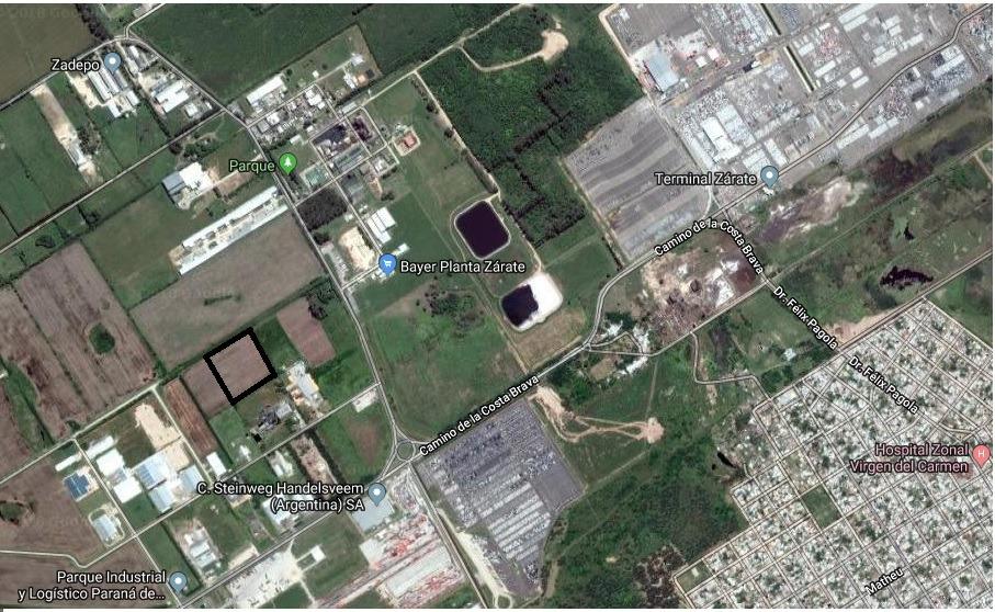 terreno en parque industrial zarate