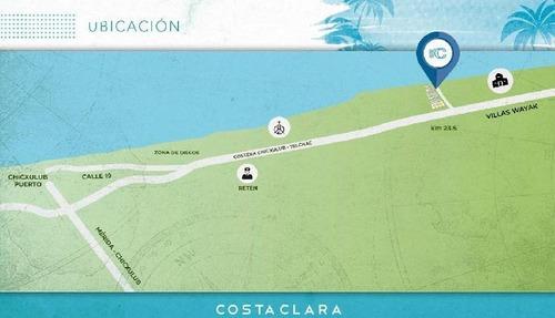terreno en playa, a solo 200 metros del mar, chixchulub puerto