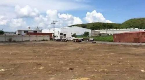 terreno en renta de 2,467 m2 en zona industrial de veracruz