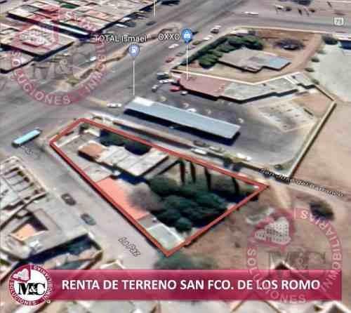terreno en renta en san francisco de los romo, aguascalientes