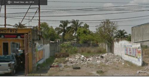terreno en renta frente nuevo veracruz 400m2 pie de carretera ver-xal