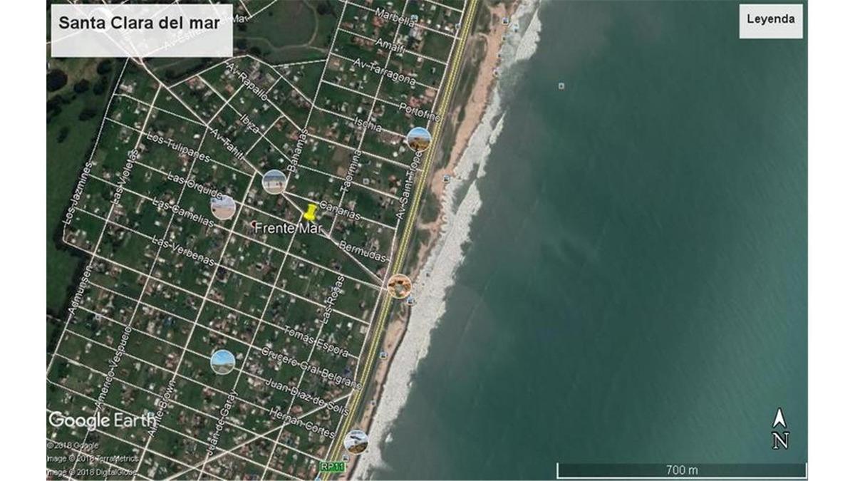 terreno en santa clara del mar. manzana a 200 mts del mar