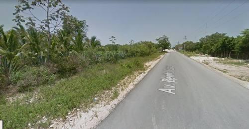terreno en solidaridad avenida juarez km 13