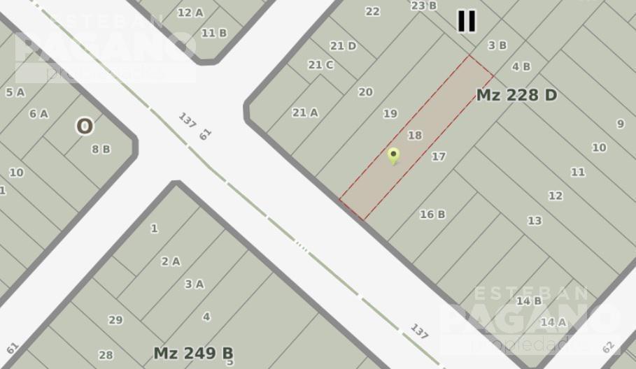 terreno en venta 137 e/ 61 y 62- los hornos