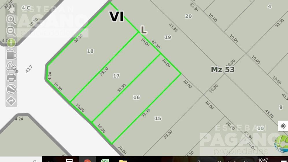 terreno en venta 149 e/ 417 y 418- villa elisa