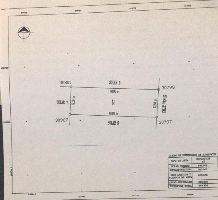 terreno en venta, 500 m2, alamos ll $1'000,000.00