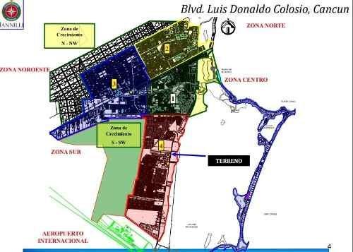 terreno en venta 5,003 m2 uso comercial (hotelero) colosio
